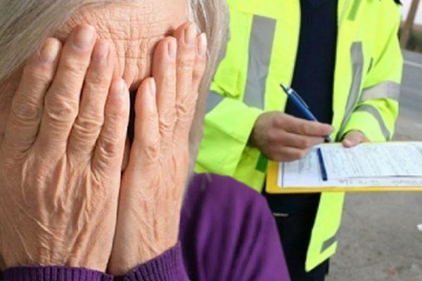 femeie oarba amendata de politia locala