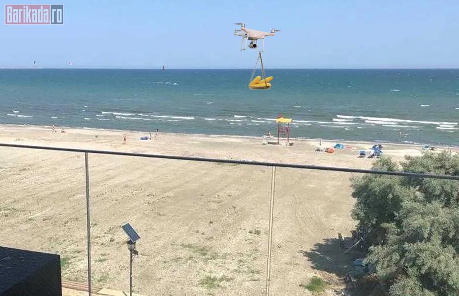 porumb drona plaja mamaia