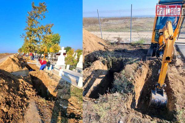 gropi cimitir slobozia escavator
